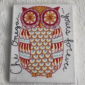Chi Omega Owl Canvas